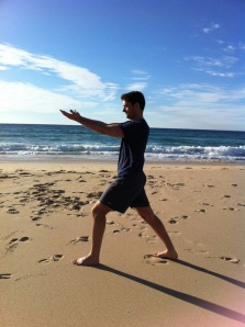 Mr Yoga @ the beach